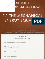 1.1 the Mechanical Energy Equation