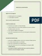 Pautas Objetivos de La Investigacion 2017 2