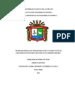 Inversion Publica en Infraestructura y Su Impacto en El Crecimiento Eonomico Del Peru 2000-2014