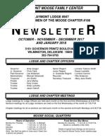 Moose Newsletter Oct Nov Dec 2017 and Jan 2018
