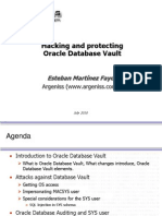 BlackHat USA 2010 Fayo Hacking Protecting Oracle Databease Vault Slides