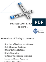 Lecture 5 Business Level Strategies