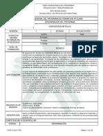 Infome Programa de Formación Carpinteria Metálica