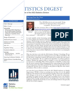 The Newsletter of the ASQ Statistics Division
