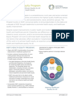 NQF Health Equity Program Fact Sheet