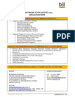 BII MF Scholarship - 001 Form Apply 2012 - BI