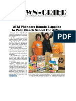 Wellington Town-Crier Story Re ATT Pioneers Donation to PB School for Autism-10.6.17
