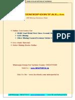 Bord and Pillar Method of Working