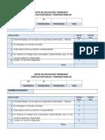 Pauta de Evaluación Lista de Herbario
