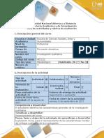 Guía de Actividades y Rúbrica - Fase 1 Reconocer Características Métodos Cualitativos