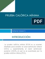 Prueba Calórica Mínima