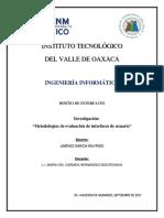 Wilfrido JG. - Metodologías de Evaluación de Interfaces de Usuario