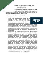 LOE PropuestaARTEyEDUCACION AsambleaNacional JA