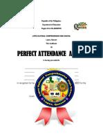 Award Format