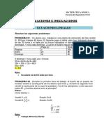 Ficha de Trabajo 02 Ecuaciones e Inecuaciones.