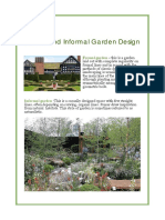 Formal and Informal Garden Design
