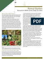 Native Garden Design Formal Fact