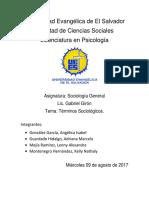 Términos de Sociología Completa
