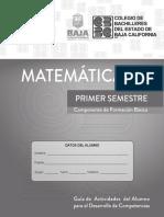 Matemáticas I Versión 1