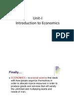 Unit-I Economics