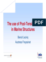 The use of Post Tensioning in Marine Structures