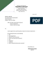 Application Letter for T-111