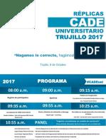 Programa oficial de la Réplica Cade Universitario Trujillo 2017