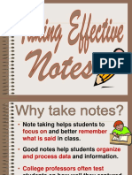 MPU 1223 - Effective Note Taking