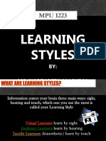 MPU 1223 - Learning Styles.ppt