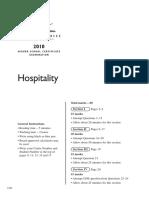 2010 Hsc Exam Hospitality