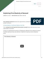 Explaining Price Elasticity of Demand