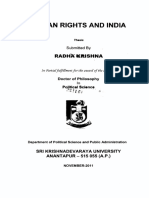 Thesis on Indian Constitution and Human Rights