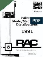 Failure Mode Mechanism Distributions