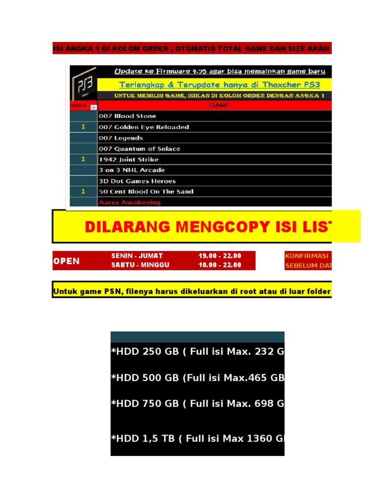 List Game Ps3 Jan '17 Wisnu   Resident Evil   Sekuel