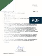 Carta Gerente Flujo de Caja