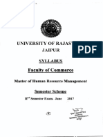 Master Human Resource Management II Sem-June2017 Syllabus