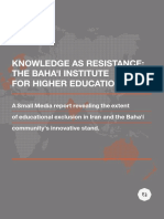 Knowledge as Resistance the Baha'i Institute for Higher Education