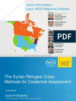 The Syrian Refugee Crisis Methods for Credential Assessment