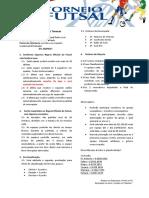 Regulamento - Torneio de Futsal UMP Barro