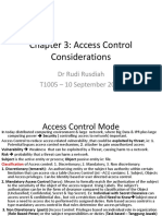 Chapter 3 Access Control Consideration 19 Mar 2016