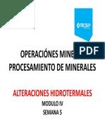 Modulo 5 Alteraciones Hidrotermales