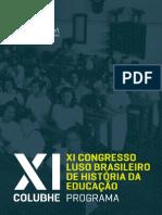 XI congresso luso brasileiro de história da educação