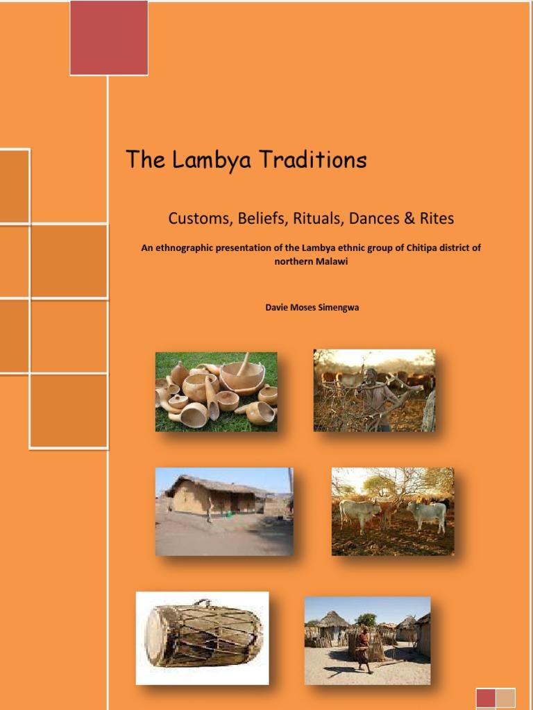 The Lambya Traditions: Customs, Beliefs, Rituals, Dances U0026 Rites Vol 1. |  Ethnography | Traditions