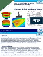 Parte I - Introducao Aos Processos de Fabricao metalica
