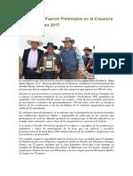 Productores Fueron Premiados en La Clausura de Expo Reyes 2017