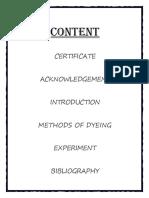 Chemistry Investigatory Project Fabrics