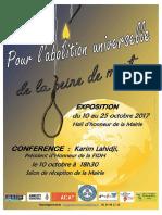 10 octobre 2017 Journée internationale contre la peine de mort