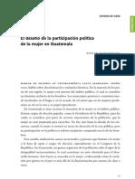 El desafío de la participación política en Guatemala-Nineth Montenegro