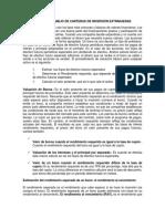 Análisis y Manejo de Carteras de Inversión Extranjeras