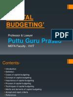 Capital Budgeting Gp1 by Professor & Lawyer   Puttu Guru Prasad